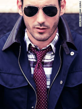 Park and Bond, Gilt Groupe's online men's store, offers a mix of the classic and contemporary look. Featured here, glasses by Ray Ban, jacket by Ian Velardi, shirt by Thom Browne and tie by Salvatore Ferragamo.
