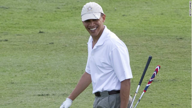 Keen golfer President Obama was honorary chairman for the 2009 Presidents Cup. He was on the golf course on the morning of the killing of Al-Qaeda leader Osama Bin Laden.