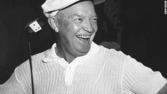 Dwight D. Eisenhower, the 34th president of the United States, was one of a number of commander in chiefs to tee up with Claude Harmon Snr.