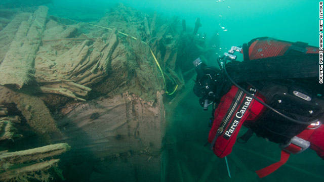 "Parks Canada discovered the wreck of ""HMS Investigator"" last year. It's hoped the site will provide vital clues to solve the mystery of Erebus and Terror."