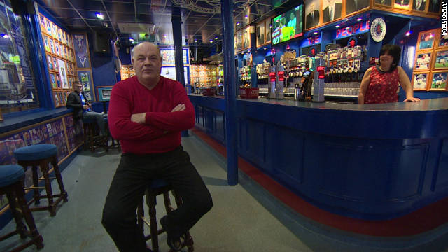 Robert Marshall, the proud landlord of The Louden Tavern, a pub that sits close to Ibrox Stadium in Glasgow, Scotland and is overt in its support of Rangers Football Club.