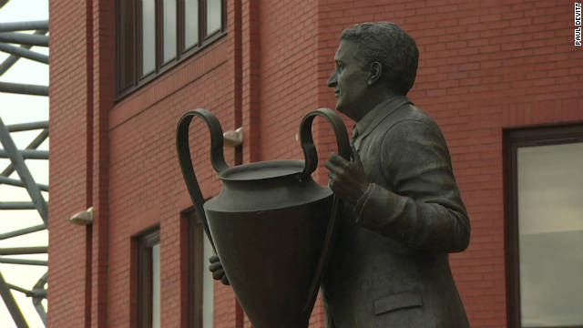 A statue commemorating Jock Stein at Celtic -- the manager who led a team comprised entirely of players from the Glasgow area to European Cup glory in 1967.