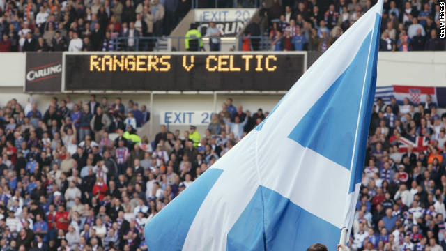 Celtic versus Rangers is one of the fiercest rivalries in world football.The coming together of the two communities of Glasgow in Scotland, in the cauldron of a stadium to cheer on their sides, as well as proclaim their identity with songs and banners, creates a unique and febrile atmosphere. On one side of the arena the red, white and blue of the British Union Flag. On the other the green, white and orange of the Irish tricolor flag.