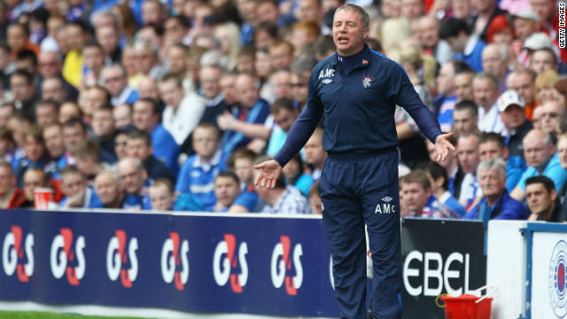 Rangers current manager is former club goal-scoring legend Ally McCoist. He led the side to the title last season but could not avoid the side being subject to a UEFA ban after sectarian songs were sung in a match against Dutch side PSV Eindhoven.
