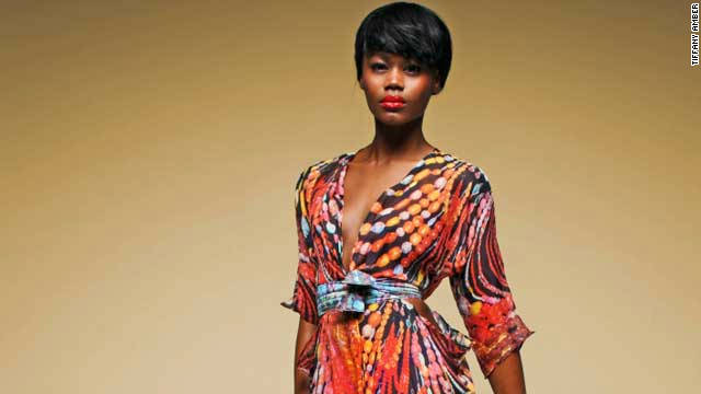 UK-based web fashion store My Asho carries the work of established and up-and-coming African designers. Pictured here is a dress from Nigerian designer Tiffany Amber.