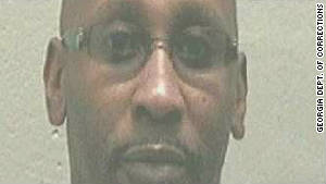 The original mug shot of Troy Davis as he was charged for the 1989 murder of Savannah police officer Mark MacPhail.