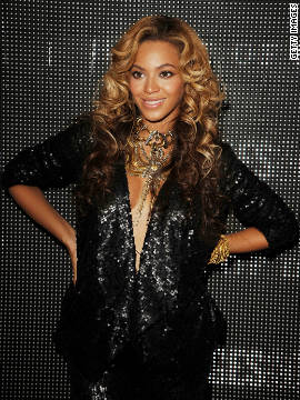 Beyonce Knowles attends the launch of her latest clothing range from the House of Dereon.