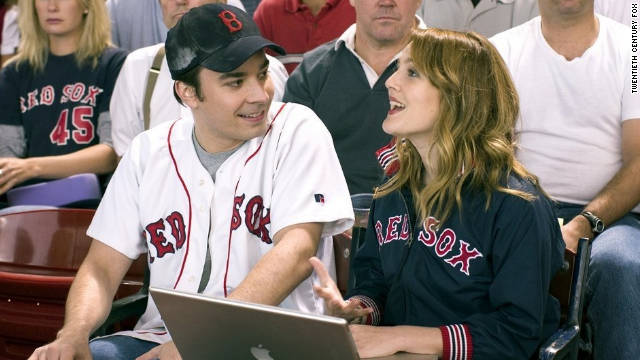 "In 2005's ""Fever Pitch,"" Ben (Jimmy Fallon), left, is forced to decide who he loves more -- the Boston Red Sox or his girlfriend Lindsey (Drew Barrymore). The Red Sox won the World Series in 2004. It had been 86 years since their last title."