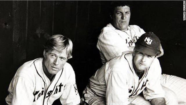 "Robert Redford stars in ""The Natural,"" based on Bernard Malamud's book of the same name. The film, about Roy Hobbs' (Redford) unexpected, natural ability to hit the ball, was nominated for four Academy Awards and a Golden Globe."