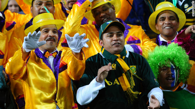 All eyes will be on South Africa's defending champions to see if they can match their achievements of four years ago. Their fans have also made an effort, with these supporters getting dressed up to cheer on the Springboks.