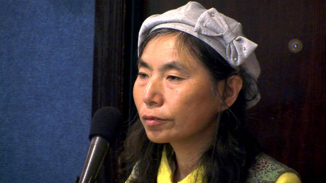 Sachiko Sato, a Japanese farmer, speaks in Washington about the impact of living near the Fukushima nuclear power plant.