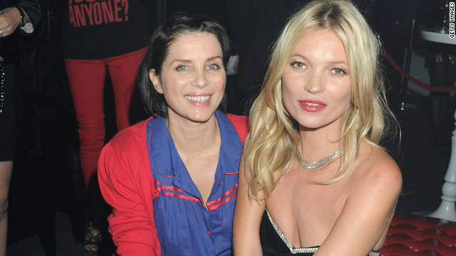Sadie Frost (L) and Kate Moss pictured at the Rimmel & Kate Moss Party during London Fashion week