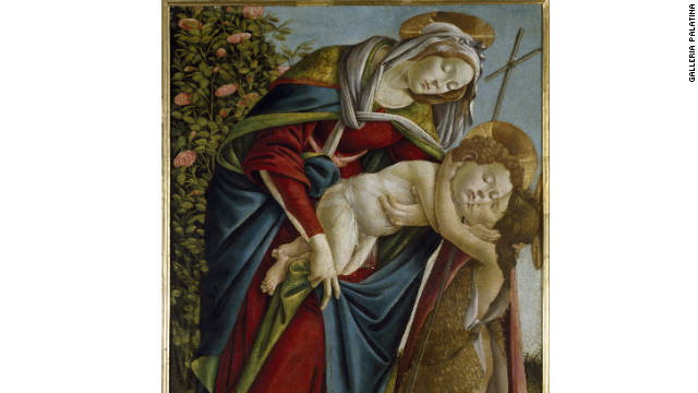 """Madonna and Child with the Young St John,"" c.1500, by Sandro Botticelli. Though he had long created works for the Medici family, art historians say Botticelli's later works suggest emotional anguish -- perhaps relating to the preaching of Savonarola."