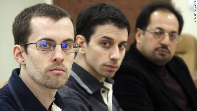 A picture released by Iran's state run Press TV shows US hikers Shane Bauer and Josh Fattal.