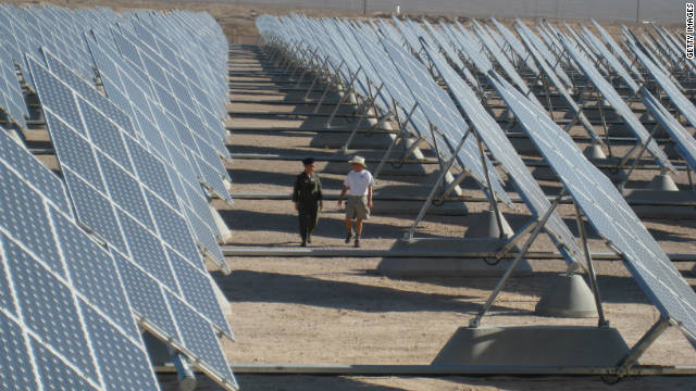 Nellis Air Force Base's 140-acre solar farm was built to supply 25% of the base's energy needs.