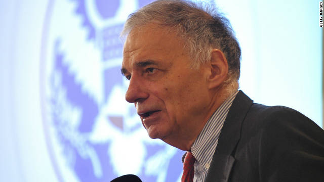Ralph Nader speaks at a conference on Transportation Security Administration procedures in January.