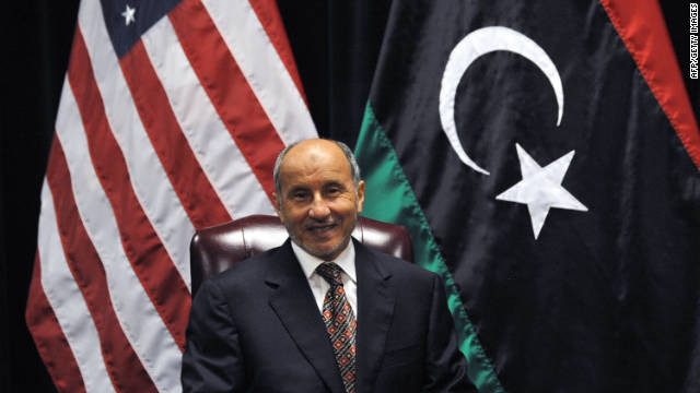 NTC Chairman Mustafa Abdel Jalil during a meeting with Barack Obama at the United Nations in the U.S.