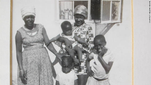 Ndume, far right, with her mother and sisters in her hometown of Tsumeb, Namibia.