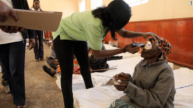 Ndume and her team run four eye camps a year to treat those who can't afford simple surgical procedures.