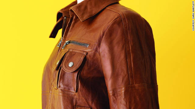 The leather bomber jacket is chic but tough, making it timeless.