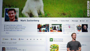 Mark Zuckerberg unveils a new version of the Facebook profile page called \