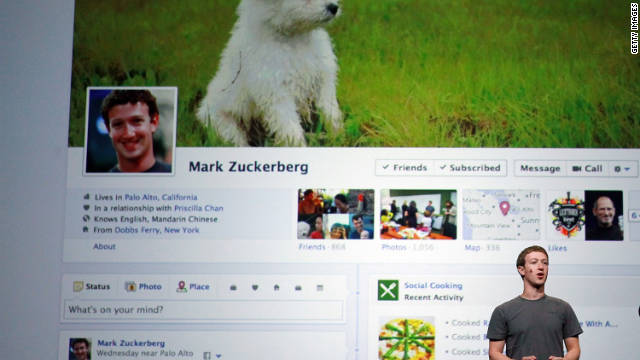 Mark Zuckerberg unveils a new version of the Facebook profile page called