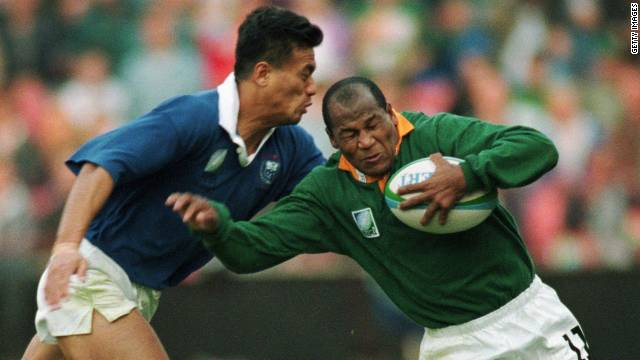 Chester Williams was the star wing of South Africa's 1995 team. As a black player, he represented what rugby in a united nation could be.