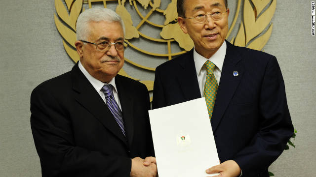 On September 23, Palestinian Authority President Mahmoud Abbas requested the United Nations recognize Palestine as a member.