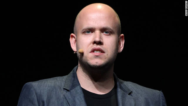 Spotify CEO Daniel Ek at Facebook's event last week. Spotify is one of several music-streaming sites partnering with Facebook.