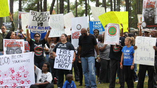 At Troy Davis protests, people talk big change