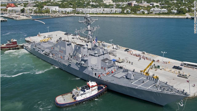 U.S. Navy's newest destroyer arrives in Key West