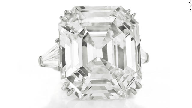 The spectacular Elizabeth Taylor Diamond, a rectangular cut of 33.19 carats, is estimated to fetch between $2.5 million and $3.5 million at auction in December<!-- -->.</br><!-- --> </br> It was also given to the actress by husband Richard Burton.