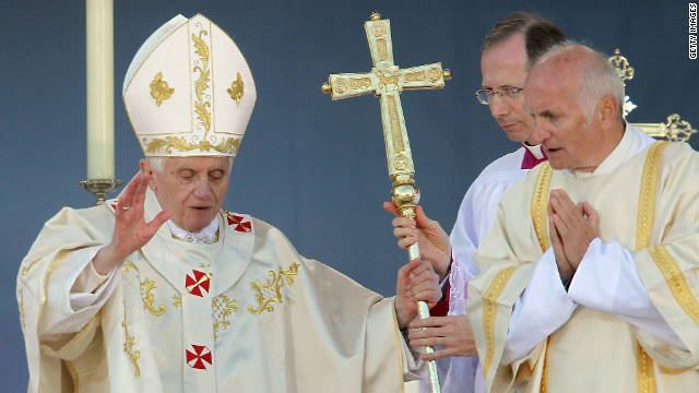 Pope Benedict celebrates Mass on Saturday in Erfurt, eastern Germany.