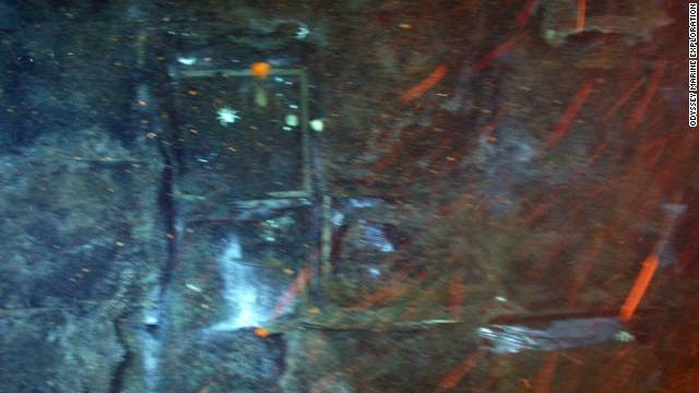 Tea chests in one of the SS Gairsoppa's cargo holds are thought to contain some of the ship's precious cargo.