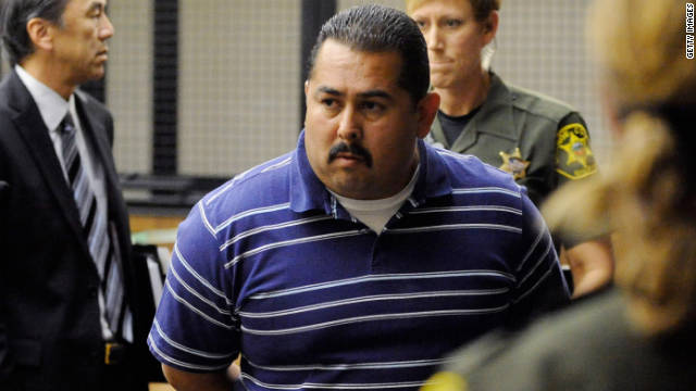 Officer Manuel Ramos pleaded not guilty after being charged in the beating death of a mentally ill homeless man.