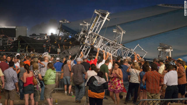 Seven people were killed when a stage collapsed at the Indiana State Fair on August 13.