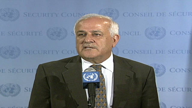 Permanent Observer Riyad Mansour hopes the Palestinian application for statehood will be accepted.