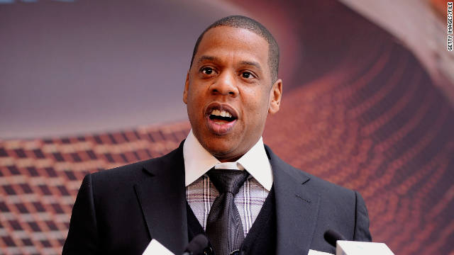 Rapper Jay-Z, a part owner of the Nets, speaks during the March groundbreaking at Barclays Center in New York.