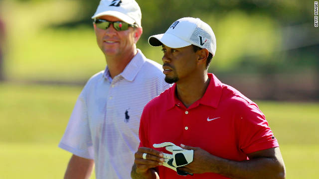 Tiger Woods, right, and Davis Love III were paired together at August's PGA Championship.