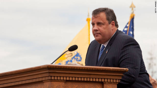 New Jersey Gov. Chris Christie speaks at an event on September 10.