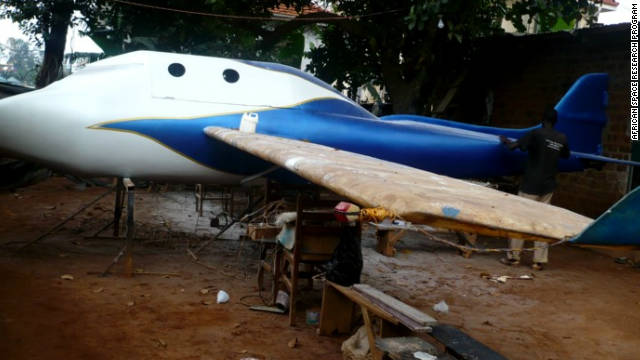 The members of the African Space Research Program are putting the final touches to their aircraft