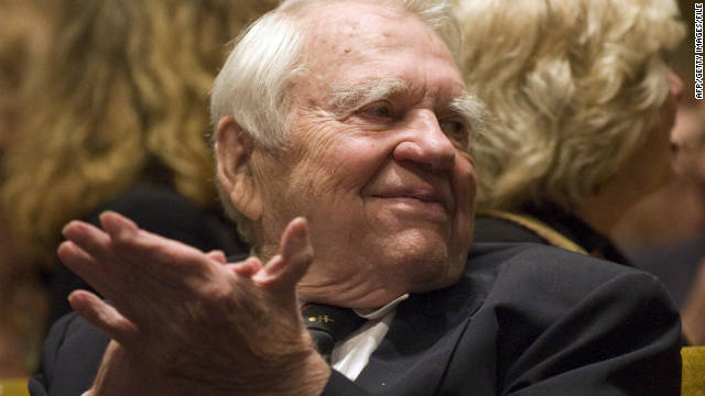 "TV journalist Andy Rooney, a commentator on CBS's ""60 Minutes,"" died November 4 from complications after minor surgery. He was 92. <a href='http://articles.cnn.com/2011-11-05/us/us_obit-andy-rooney_1_andy-rooney-jeff-fager-cbs-statement?_s=PM:US'>Full story</a>"