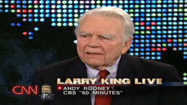 Andy Rooney deja el programa de televisión «60 Minutes»