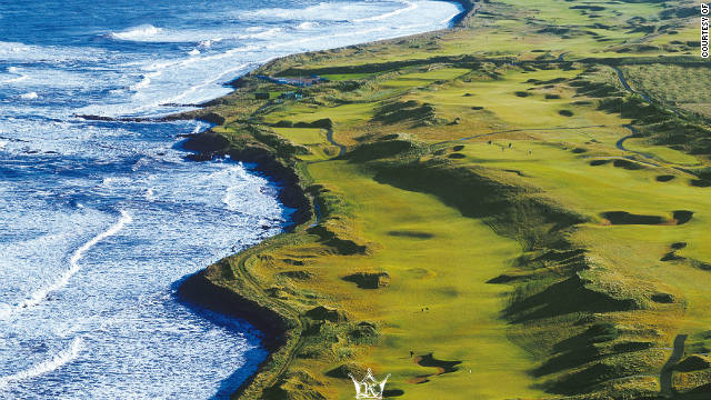 Kingsbarns Golf Links (seen here from above) is one of three courses used for the event.