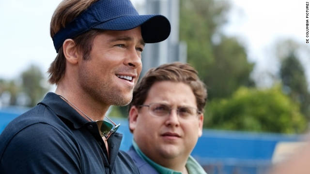 "<br/>""Moneyball,"" directed by Bennett Miller, stars Brad Pitt as Oakland As general manager Billy Beane and Jonah Hill as Beane's number-crunching righthand man."