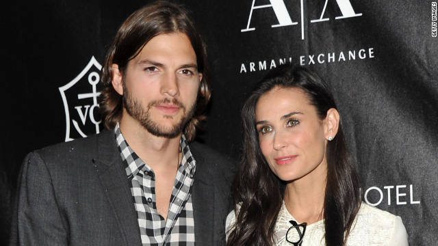 Demi Moore said she plans to divorce Ashton Kutcher. The couple began dating ...