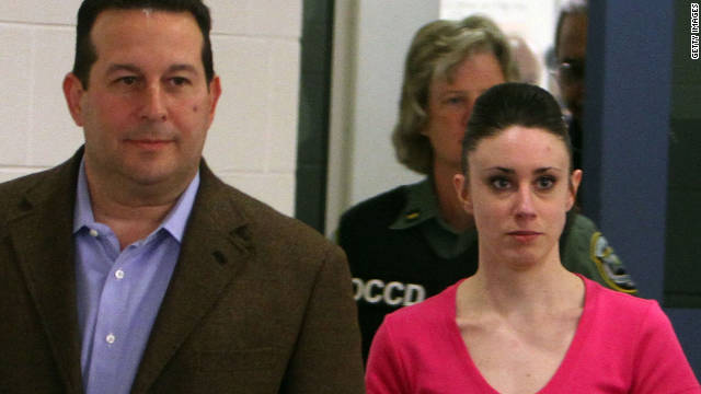Casey Anthony, right, invoked her Fifth Amendment right against self-incrimination in a civil suit, a transcript shows.