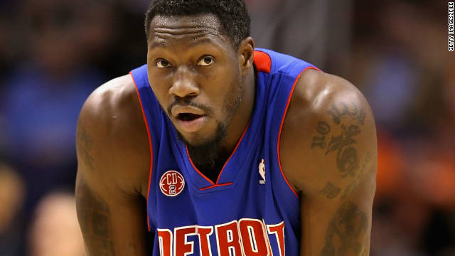 Pistons' Wallace arraigned on five-year felony gun charge