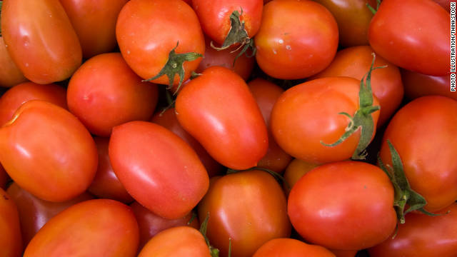 Pre-sliced Roma tomatoes purchased at deli counters in Sheetz Gas Stations infected 429 people -- hospitalizing 129 -- in the summer of 2004. Two other smaller outbreaks in the U.S. and Canada also occurred that summer and were linked back to a tomato-packing house in Florida.