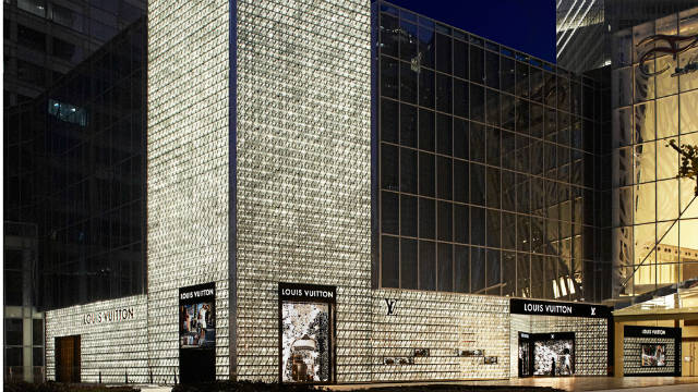 Another Peter Marino collaboration with Louis Vuitton --this time in Shanghai's upscale Pudong district.